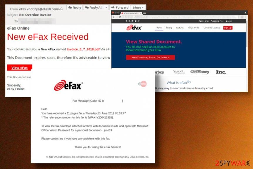 eFax scam