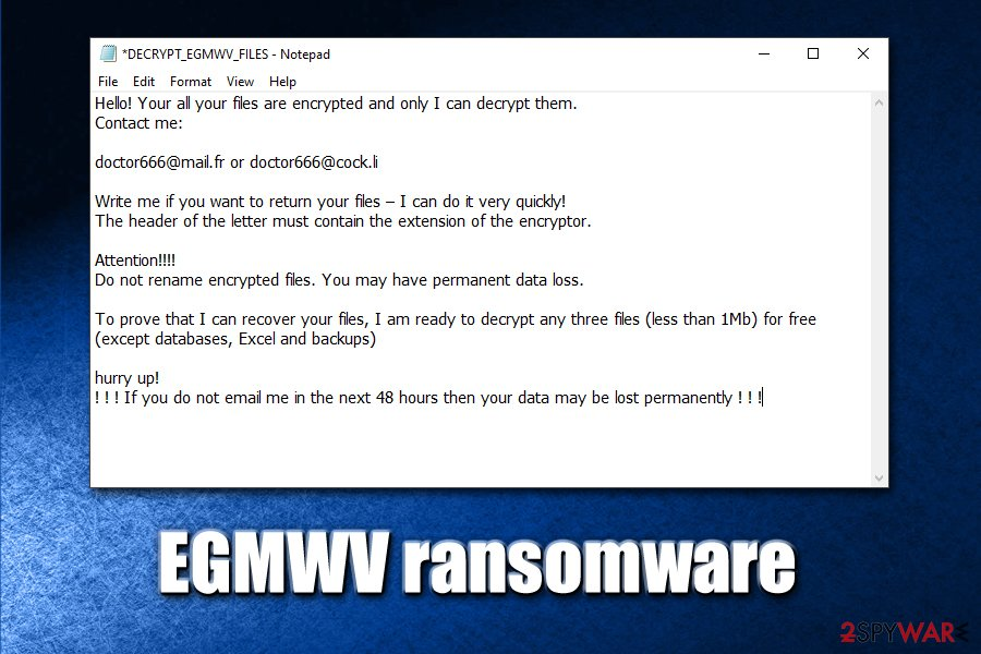 EGMWV ransomware