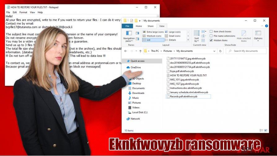 Eknkfwovyzb ransomware virus
