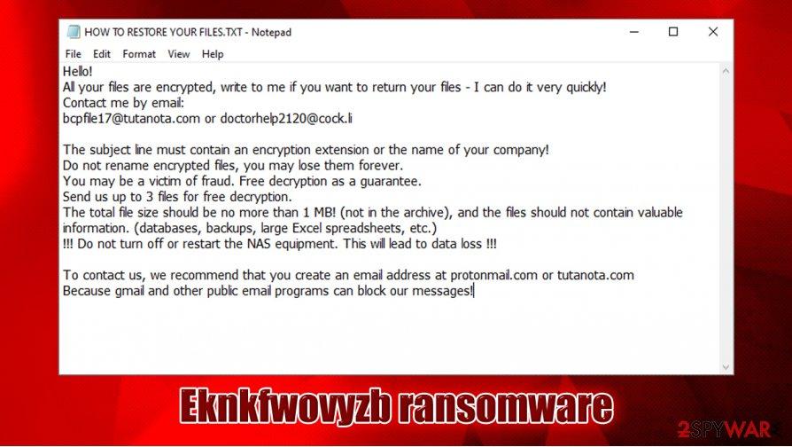 Eknkfwovyzb ransomware