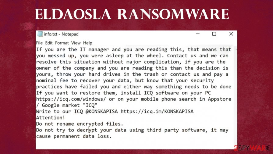 ELDAOSLA ransomware