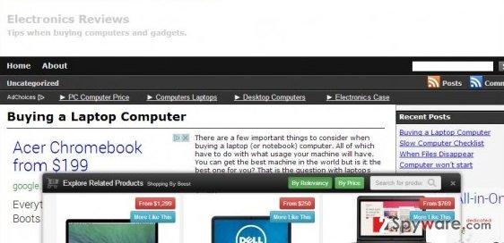ElectronicsReviews.info snapshot