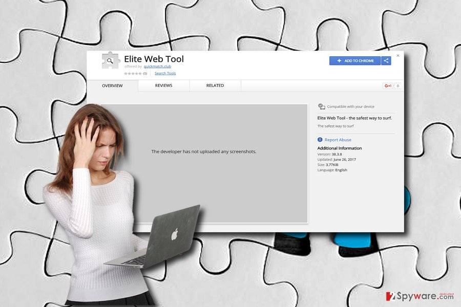 The picture displaying Elite Web Tool