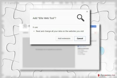 The screenshot of Elite Web Tool
