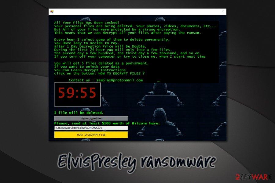 ElvisPresley ransomware