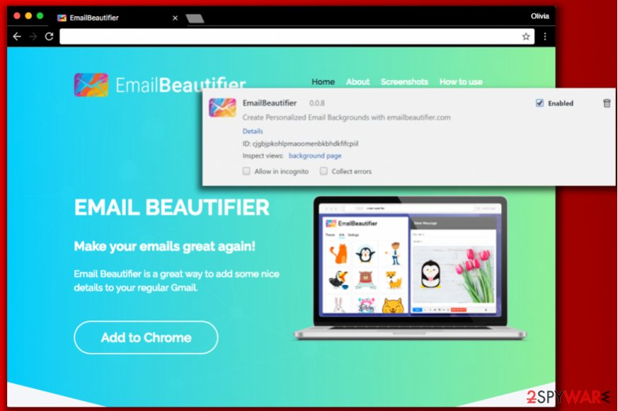 EmailBeautifier virus
