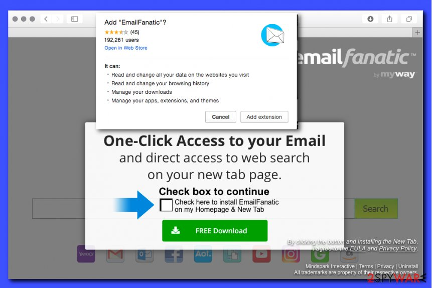 EmailFanatic Toolbar picture