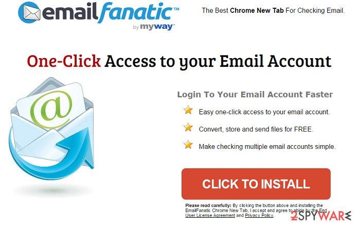 EmailFanatic Toolbar virus