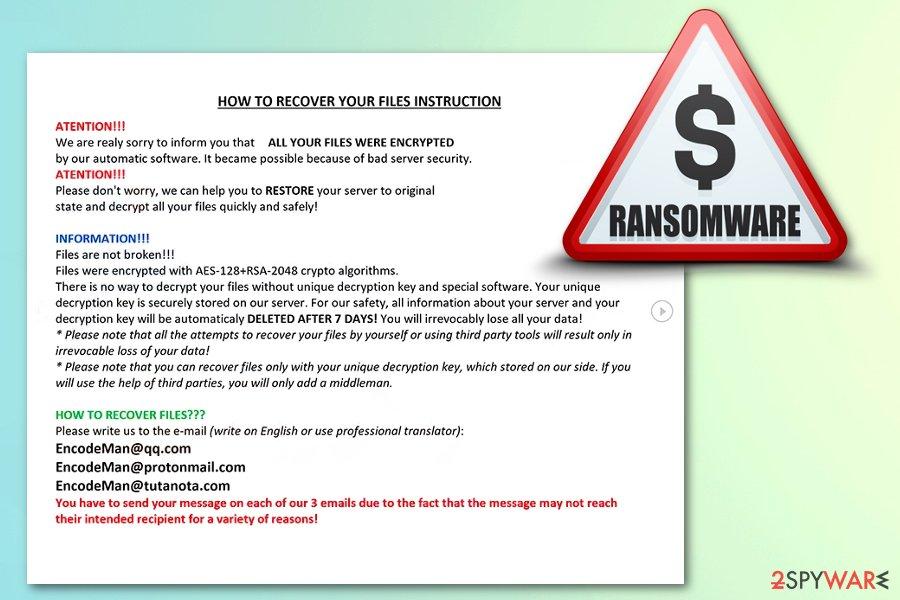 Eman ransomware virus