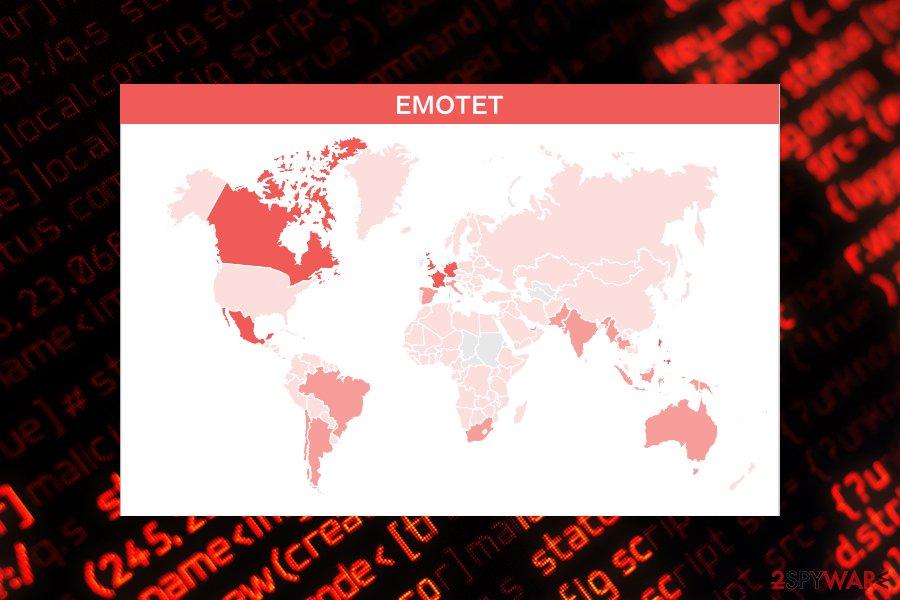 Emotet prevalence