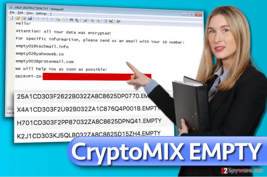 EMPTY ransomware virus
