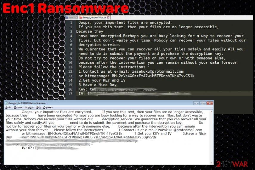 Enc1 ransomware