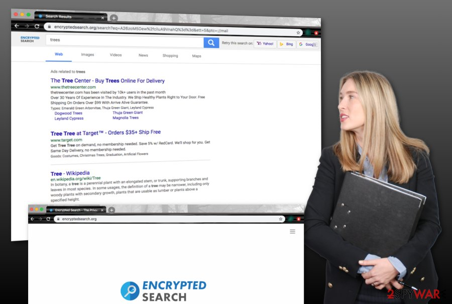 Encryptedsearch.org browser hijacker