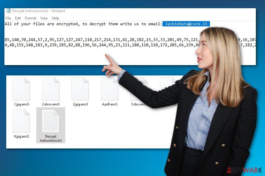 encS ransomware virus
