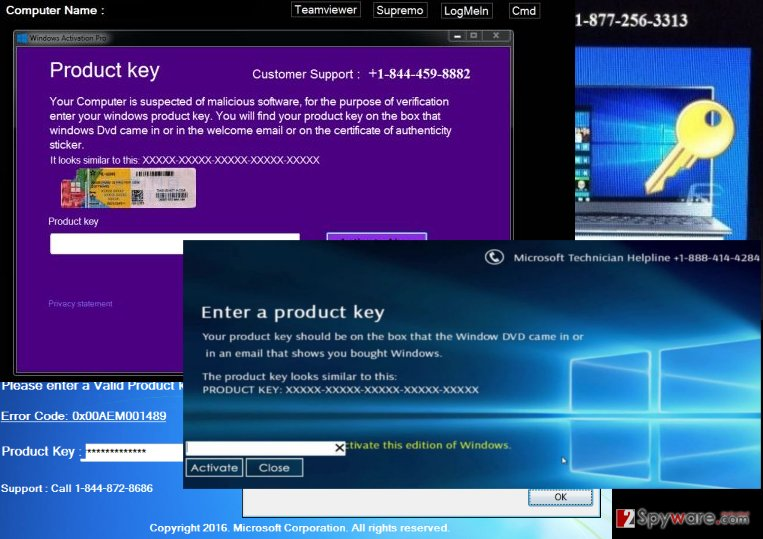 "An illustration of the ""Enter A Product Key"" notifications"