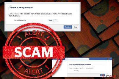 Enter Facebook Password scam