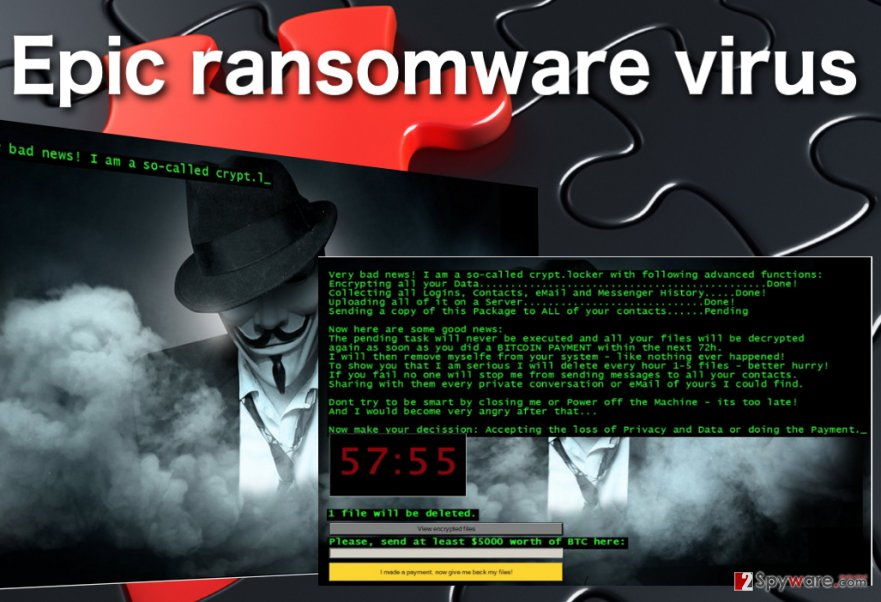 Image of the Epic ransomware virus