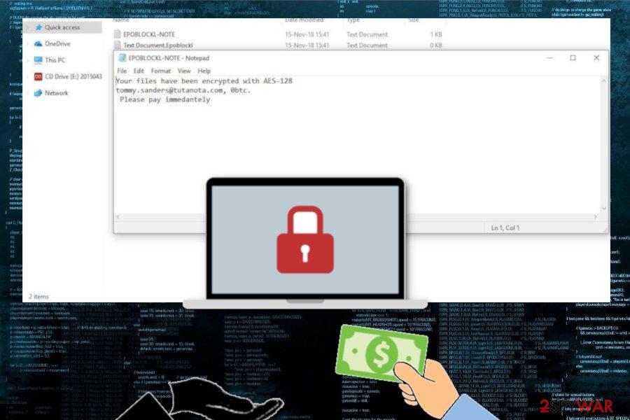 Epoblockl ransomware virus