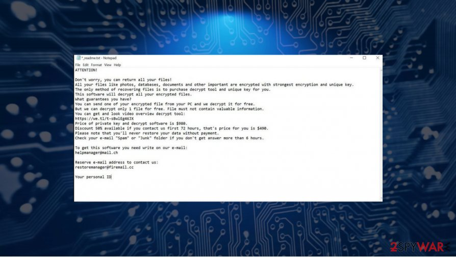 Erif Djvu ransomware