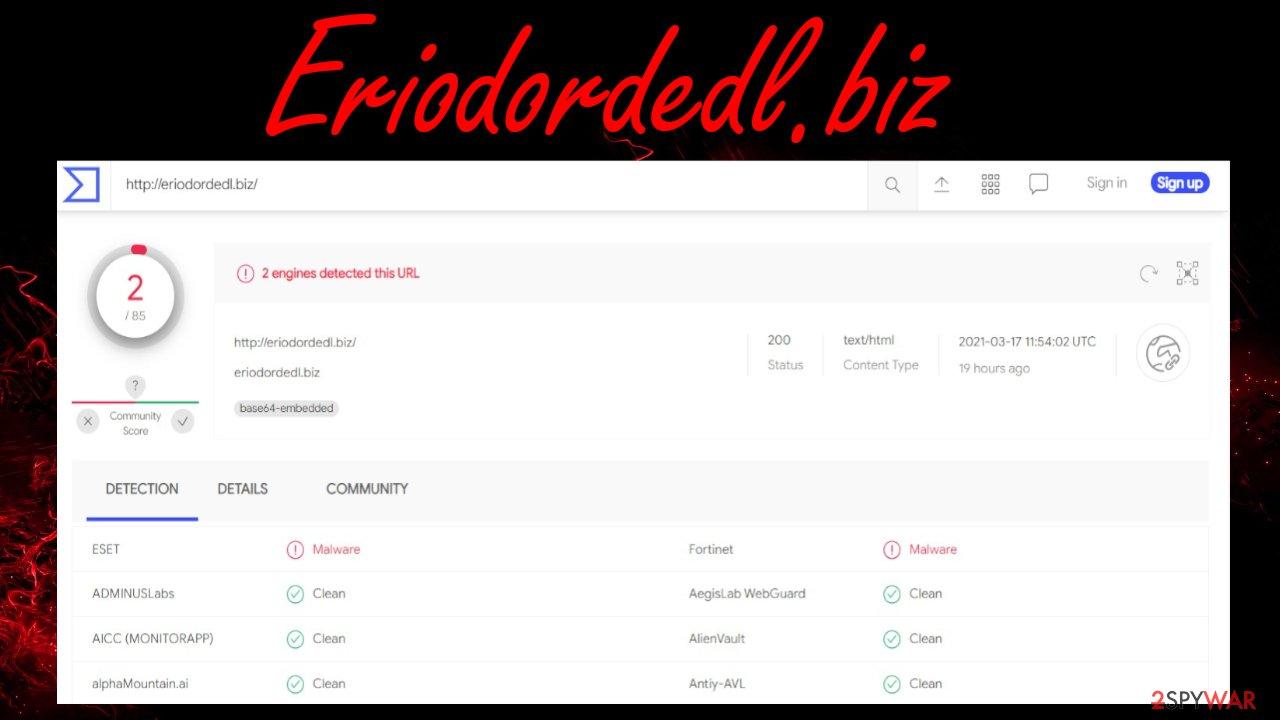 Eriodordedl.biz virus