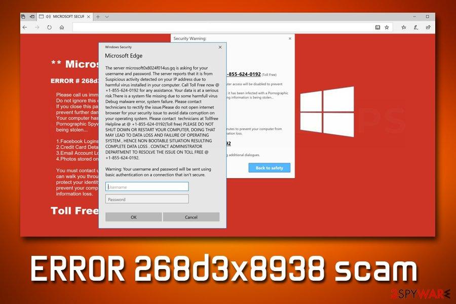 ERROR 268d3x8938 scam