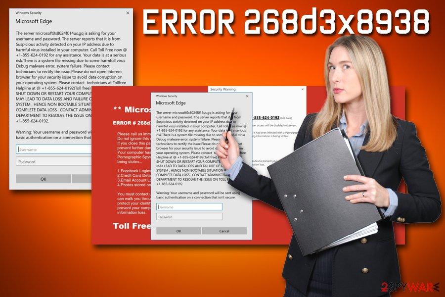 ERROR 268d3x8938 fake alert