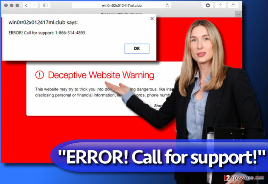 """ERROR! Call for support!"" scam"