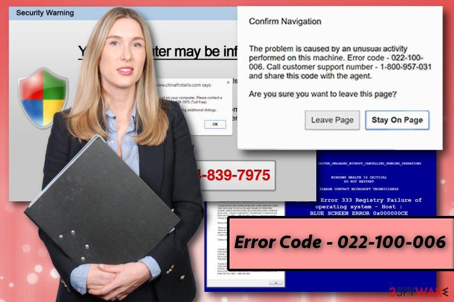 Error Code 022-100-006 virus