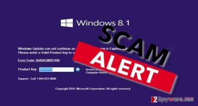The image revealing Error code: 0x00AEM001489