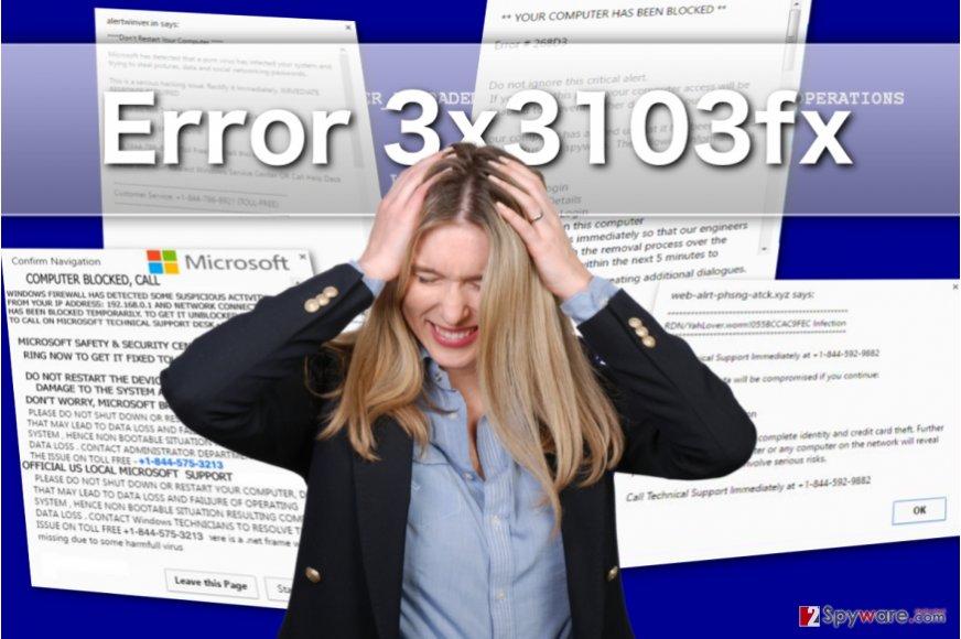 Error 3x3103fx adware virus