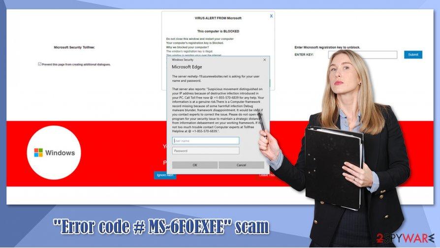 """Error code # MS-6F0EXFE"" virus"