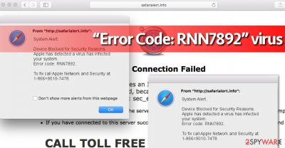 Error Code: RNN7892 bogus alerts