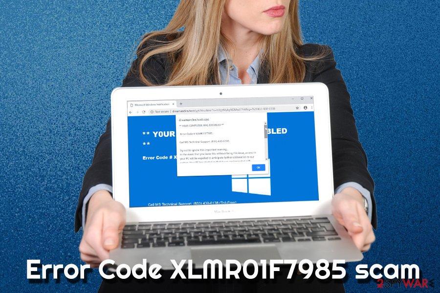 Error Code XLMR01F7985 fake alert