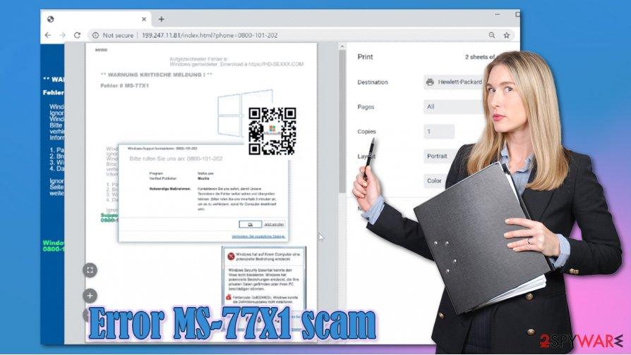 Error MS-77X1 scam