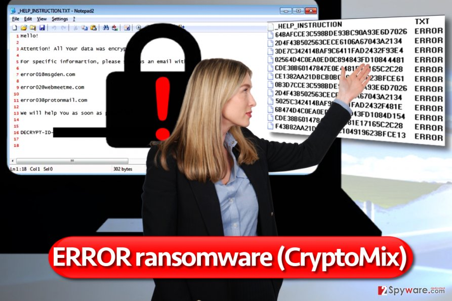 Error virus is a version of CryptoMix ransomware