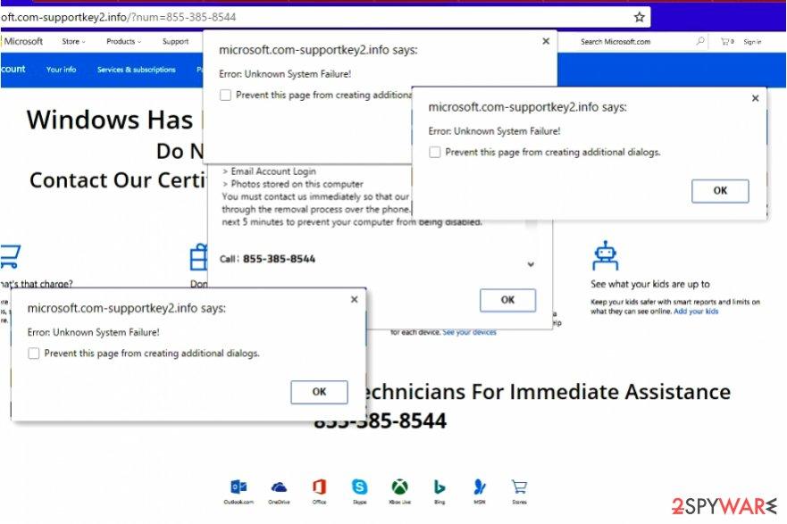 Error: Unknown System Failure Scam