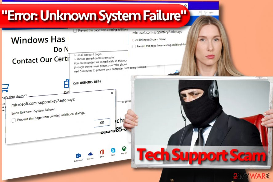 """Error: Unknown System Failure"" Tech Support Scam virus"