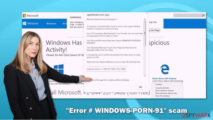 """""""Error # WINDOWS-PORN-91"""" scam virus"""