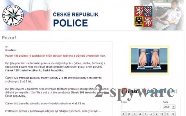 České Republik Police snapshot