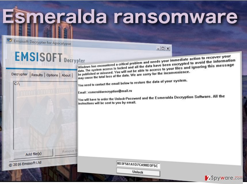 Image of the Esmeralda ransomware virus