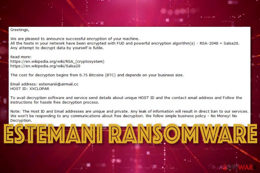 Estemani ransomware