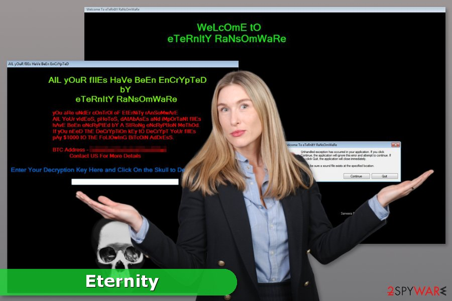 Picture of Eternity ransomware