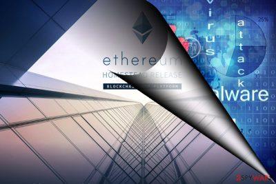 The image displaying Ethereum virus