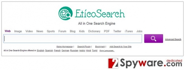 EtikoSearch.com virus snapshot