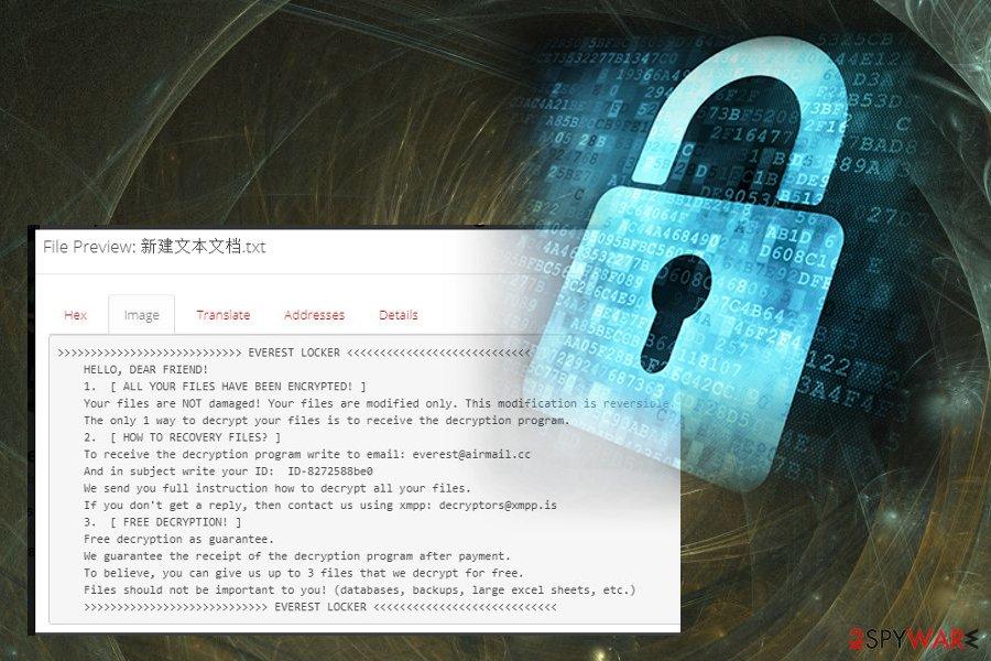 EVEREST ransomware virus