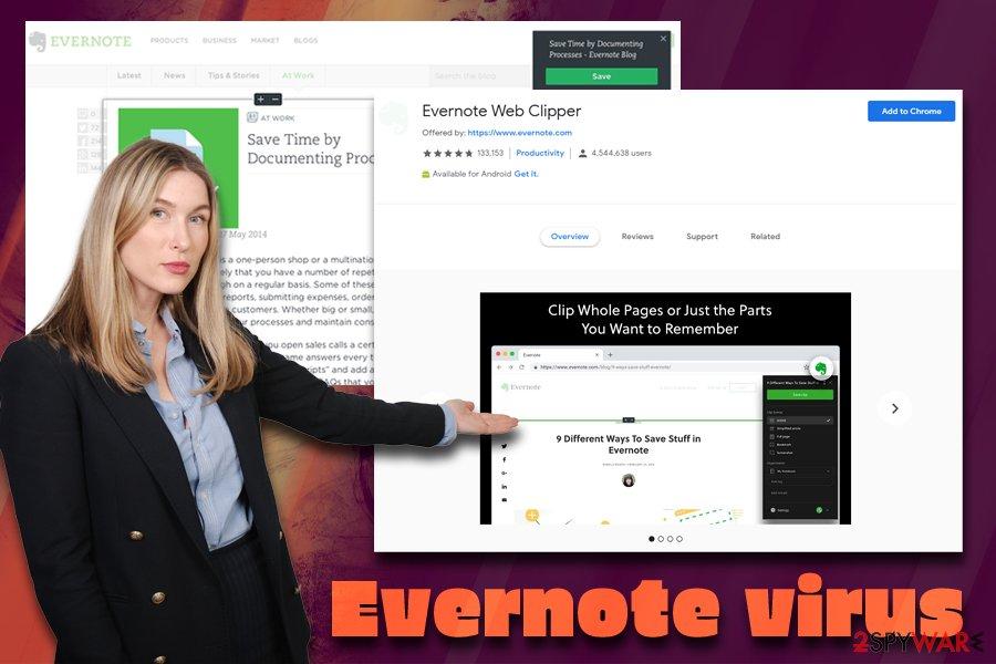 Evernote virus termination
