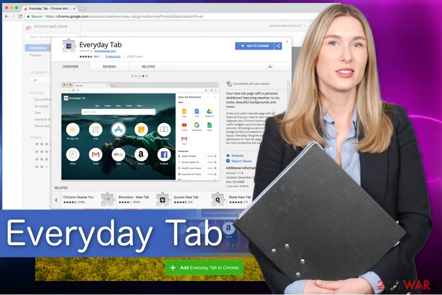 Everyday Tab virus image