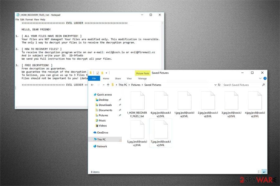 Evil Locker ransomware image