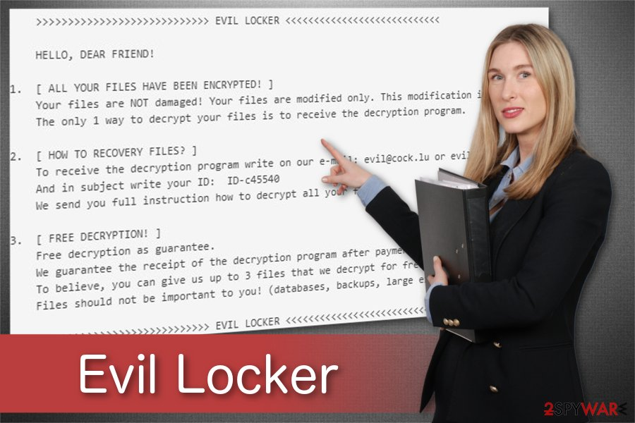 Evil Locker ransomware illustration
