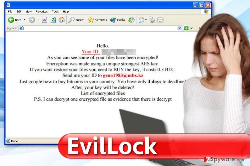 EvilLock virus